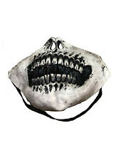 Skeleton Half Face Jaw Rubber Latex Halloween Teeth Mask Horror Costume Party