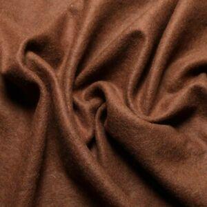 Wool Flannel Jersey fabric - 100% wool  - Yellow, blue, rust, beige