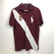 Polo Ralph Lauren Mens Medium Polo Shirt Big Pony Crest #1 Embroidered Burgundy