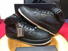 Nike Air Force One Mid Premium Size 9.5 Black Charles Barkley CB34 180 Jordan XI