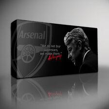 """Arsene Wenger Arsenal - XL 40""""x20"""" PREMIUM FRAMED GICLEE CANVAS ART PRINT"""