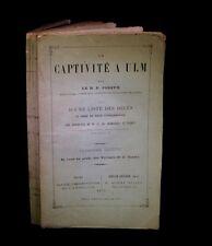 [GERMANY - DEUTSCHLAND - ALLEMAGNE - GUERRE de 1870] JOSEPH - La Captivité à Ulm