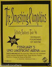Smashing Pumpkins / Fountains Of Wayne 1996 New Orleans Concert Tour Poster