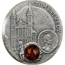 Niue 2011 1$ Amber Route Szombathely 28,28g Silver Coin with Amber Insert