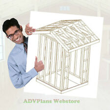 6X6 CLASSIC GABLE ROOF WOOD SHED PLANS, 26 PLANS TOTAL, ADV PLANS WOOD SHEDS CD