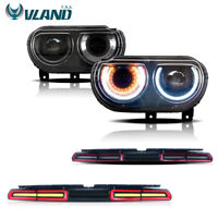 VLAND For Dodge Challenger 2008-2014 LED Headlights&LED Tail Lights Red Assmbly