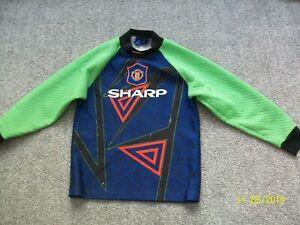 Manchester United Goalkeeper Replica 1994-1996 Shirt Top Large L Boys Football