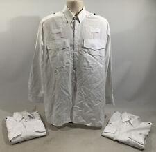 3 x Genuine Ex Police White Shirts Work Uniform Security Formal Occasion Smart