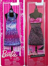 BARBIE DRESS 2-Pack FASHIONISTAS Outfits Pink Leopard Print & PURPLE Sparkle
