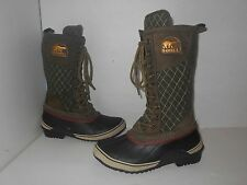 "Women's Sz 7 $170.00 ""Sorel"" Tall Lace Up Waterproof Snow/Rain Boots-54.99"