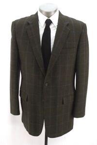 green houndstooth HICKEY FREEMAN LTD blazer jacket sport suit coat soft 42 L