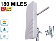 180 MILE New Concept Boosted High Gain Digital HD TV UHF VHF DTV 44 dB ANTENNA