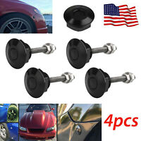 4X Quick Latch Push Button Racing Car Hood Pin Bonnet Lock Bumper Clip Universal