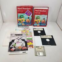 "Vintage Word Munchers MECC Box - 3.5"" & 5.25"" Disks - IBM PC MS-DOS Complete"