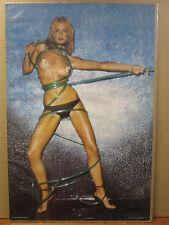 Vintage ROXANNE 1980 Car Garage poster man cave hot girl  9197