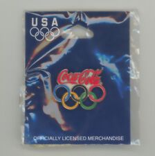 Coca-Cola Olympics Rings Cloisonne Pin 2004 NEW-IN-BAG Aminco Coke Licensed