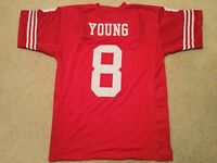 UNSIGNED CUSTOM Sewn Stitched Steve Young Red Jersey - M, L, XL, 2XL