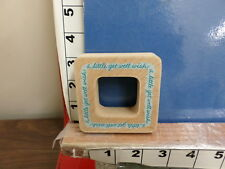 saying a little get well wish frame square with cutout  rubber stamp 29w
