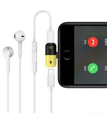 Double Lightning Audio Adapter 2in1 Headset and Charger for iPhone X 7 8 plus