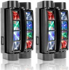 8 Led Rgbw Spider Beam Moving Head Stage Lighting Dmx512 Dj Party Disco Lights