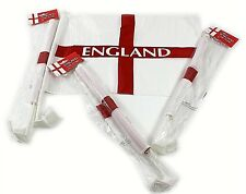 4 x England St George Car Flags Plastic Clip On Window National Cross Bunting