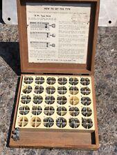 Vintage Kingsley hot foil stamping machine Type Letters 18 Pt bank Gothic