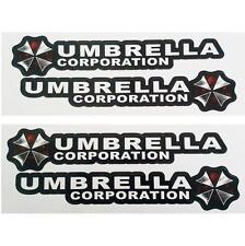 4PCS Resident Evil Umbrella Corporation Logo Glue Sticker Car Decal Bio hazard