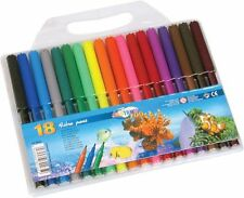 Pack of 18 Centrum Fibre Tip Pens For Adult Colouring In Books-Made in UK-80165