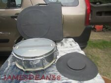 "Slingerland 14"" x 5"" Snare Drum Chrome Vintage 8-Lug W/Travel Case NILES BADGE"