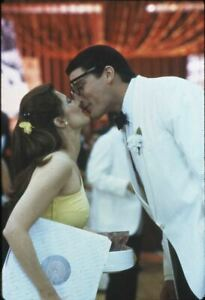 Superman 3 Christopher Reeve kissing Annette O'Toole original 35mm Transparency