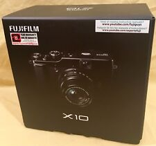 New Fujifilm Fuji X10 12MP 2.8''Screen 4x Zoom Digital Camera - BLACK