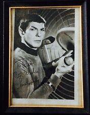 Leonard Nimoy autograph w/ personal note *RARE* on Spock b/w photo circa 1970s