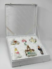 Merck Family's 6 Old World Christmas Glass Ornaments Wedding Collection Boxed