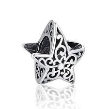 Star Sky Genuine S925 Sterling Silver Charm Bead Fits European Bracelet