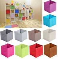 Non Woven Fabric Baskets Storage Box Cube Toy Magazine Bookcase Shelf 31x31x31cm