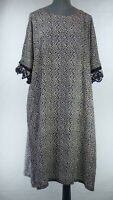 MASAI Lagenlook Geometric Relaxed Oversized Smock Midi Dress size M