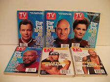 TV GUIDE COLLECTIBLE COVERS 6 issues ( STAR TREK/ WRESTLING ) FREE SHIP/ GIFT