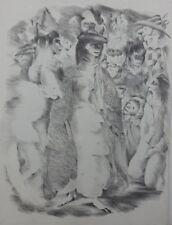 Mariette LYDIS : le bal masqué - GRAVURE - Signée - 1947