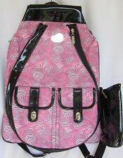 Whak Sak Backpack Tennis Laptop Sport Travel School Pink Swirl  21 x 15 B153