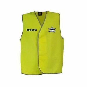 New NEW NRL Cowboys Light Weight Safety Vest: Yellow Merchandise