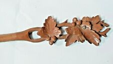 Holder Feather Wood Carved Decor Foliage View Miniature Oberammergau 20 Éme