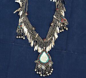 Long Kuchi Chain Necklace Ethnic Tribal Afghan Dance Boho Gypsy Pendant Kashmiri