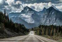 A1 | Mountain Road Poster Art Print 60 x 90cm 180gsm Driving Forest Gift #8549