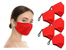 Washable Reusable Double Layer Cotton Cloth Face Mask (In Stock) - 5 Pack