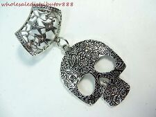 US SELLER Day of the Dead charms for scarves sugar skull gothic scarf pendant
