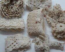 Antique Vintage Crochet & Lace Trim Inserts Edges Sewing Crafts Doll Lot 1