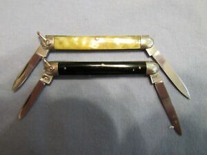 Vintage E. Bruckmann Slim Pen Knife Set Pre WWII Unused. Excellent And Very Good