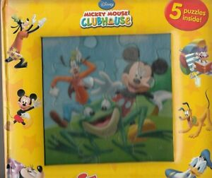 Mickey Mouse Clubhouse My First Puzzle Book Ages 3+ Comes With 5 Puzzles