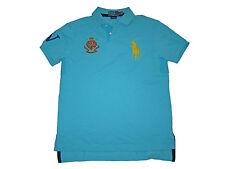 Polo Ralph Lauren Aqua Blue Big Pony Jockey Club Rugby Shirt Medium