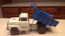 Rare Vintage Hubley 900 902 Metal Dump Truck Lift White & Blue W/ Door Sticker